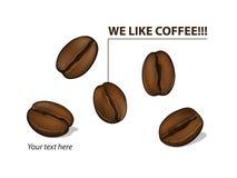 Nós gostamos do café! Imagens de Stock