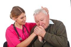 Nós importamo-nos com nossos pacientes imagens de stock royalty free