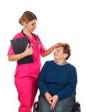 Nós importamo-nos com nossos pacientes imagens de stock