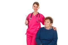 Nós importamo-nos com nossos pacientes foto de stock