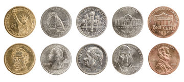 Nós moedas foto de stock royalty free