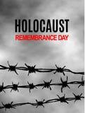 Nós nunca esqueceremos Dia da relembrança do holocausto Dia internacional de campos de concentração fascistas e de libertação dos ilustração royalty free