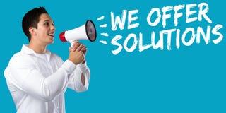 Nós oferecemos a solução das soluções para o sucesso do conceito do negócio do problema Fotografia de Stock Royalty Free