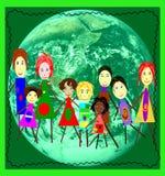 Nós precisamos um sistema ecológico ilustração royalty free
