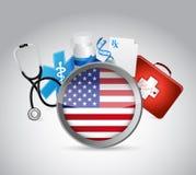 nós projeto da ilustração do conceito do seguro de saúde Fotografia de Stock Royalty Free