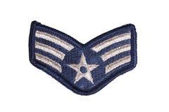 Nós remendo florescente do sargento da força aérea foto de stock