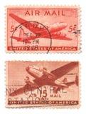 Nós selos de correio do ar imagem de stock