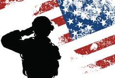 Nós soldado ilustração stock