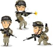 Nós soldado ajustaram 2 ilustração stock