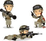 Nós soldado ajustaram 1 ilustração do vetor