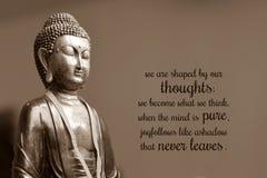 Nós somos dados forma por nossos pensamentos; nós transformamo-nos o que nós pensamos Quando a mente é pura, a alegria segue como ilustração do vetor