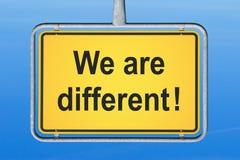 Nós somos diferentes Imagens de Stock