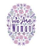 Nós somos mulher Imagem de Stock Royalty Free