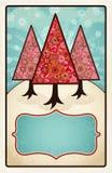 Nós três árvores Fotografia de Stock