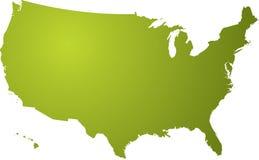 Nós verde do mapa Fotos de Stock Royalty Free