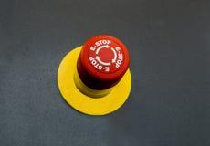 Nöd- knapp på svart bakgrund Royaltyfri Bild