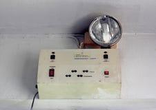 Nöd- ljus eller uppsättning av strömbrytare Arkivbilder