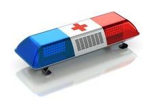 Nöd- ljus för ambulans Arkivbild