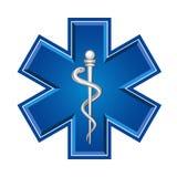 Nöd- medicinskt symbol Arkivbilder