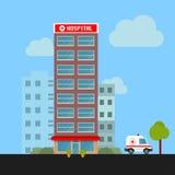 Nöd- sjukhusbyggnad vektor illustrationer