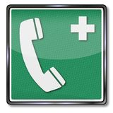 Nöd- tecken och hjälptelefon Royaltyfri Fotografi