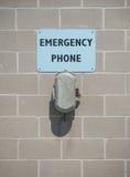 Nöd- telefon Arkivbild