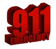 Nöd- text 911 Royaltyfri Bild