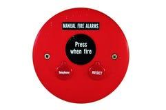 Nödläge för brandalarm Arkivfoto