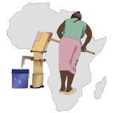 Nödvändig artikel för vatten för Afrika Arkivfoton