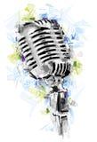 nödvändig hög mikrofon för bakgrund som tool white Royaltyfria Foton