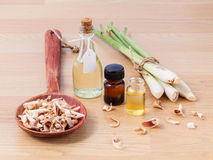 Nödvändig olja för Lemongrass Royaltyfri Fotografi