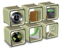Nödvändiga beståndsdelar för affär Arkivbild
