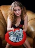 nödvändiga pengar dig Fotografering för Bildbyråer