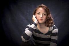 Nöjd tonårs- flicka Arkivbild