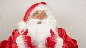 Nöjda Santa Claus stock video