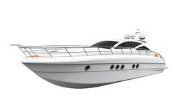 nöje för illustrationen 3d framför den vita yachten royaltyfri illustrationer