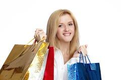 nöje shoppar till Fotografering för Bildbyråer