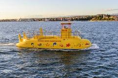 Nöjefartyg i havet royaltyfri fotografi