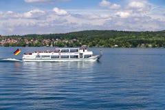 Nöjefartyg på sjön Constance Royaltyfri Bild