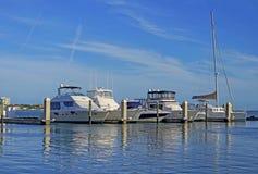 Nöjehantverk i den Clearwater hamnmarina royaltyfri foto