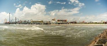 Nöjepir - Galveston ö Arkivfoton