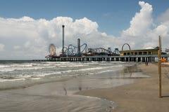 Nöjepir - Galveston ö Royaltyfri Fotografi