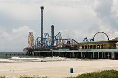 Nöjepir - Galveston ö Fotografering för Bildbyråer