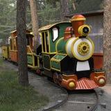Nöjesfältbarns lokomotiv för ånga för modell Royaltyfri Fotografi