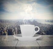 Nöjet av kaffe Royaltyfri Fotografi
