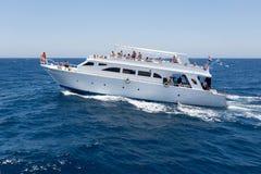 Nöjeyacht i Röda havet Royaltyfri Bild