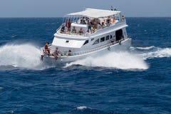 Nöjeyacht i Röda havet Royaltyfri Foto