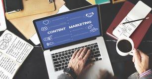 Nöjt begrepp för planläggning för marknadsföringsstrategi royaltyfri foto