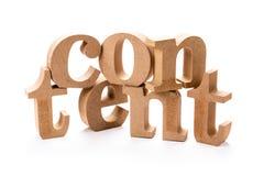 Nöjt Wood ord för byggande royaltyfria foton