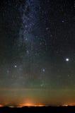 Nördlicher Teil der Milchstraße Lizenzfreies Stockfoto